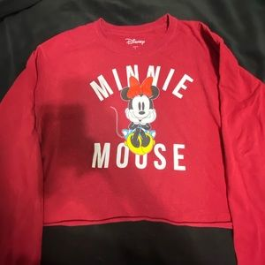 cropped long sleeve Minnie Mouse shirt